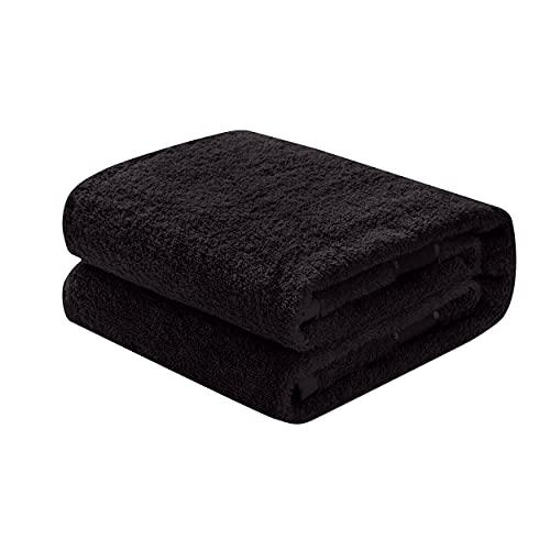 Mixibaby Waschhandschuh, Gästetuch, Handtuch, Duschtuch, Badetuch, Saunatuch aus Frottee, Größe:Saunatuch 80x200cm, Farbe:Schwarz