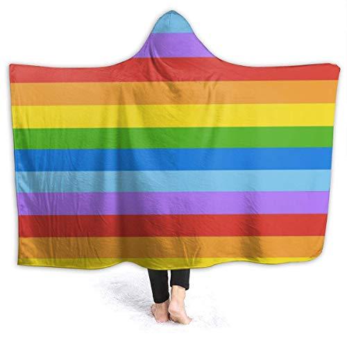 GOSMAO Manta de Franela Tela de Cepillo Extra Suave Súper cálida Mantas para sofás acogedora y Ligera Colorido 50'x40',W127cm X L102cm