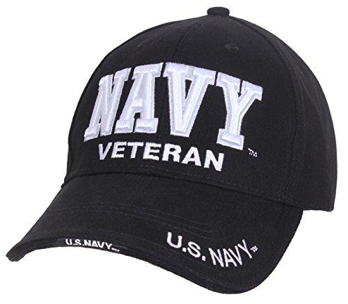 Rothco Deluxe Low Profile Military Veteran Cap (Navy | Black)