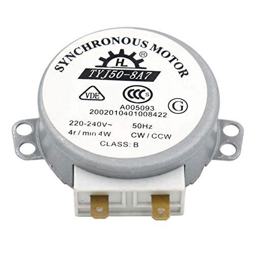 Heschen motor TYJ50-8A7 220-240V AC 4R / Min CW/CCW 50Hz para mesa de viraje de horno de microondas VDE listada
