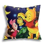 Winnie The Pooh Funda de almohada personalizada, fundas de almohada de decoración personalizadas, almohada de recuerdo de boda, regalo de cumpleaños