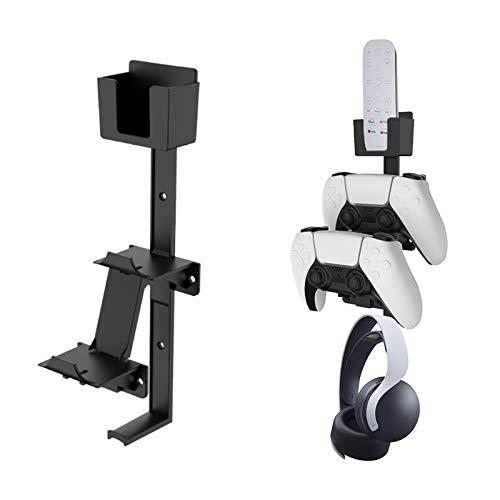 Soporte de pared para colgar auriculares, universal, ajustable, soporte para auriculares, soporte de clip para pantalla, soporte de control remoto, para Xbox One Series X PS5 PS4 NS (negro)