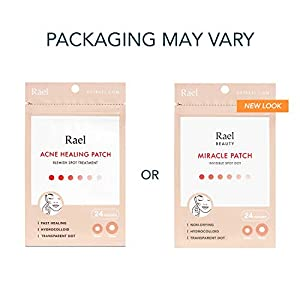 Rael Acne Pimple Healing Patch – Absorbing Cover, Invisible, Blemish Spot, Hydrocolloid, Skin Treatment, Facial Stickers, Two Sizes, Blends in with skin (96 Patches, 4Pack)