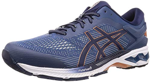 Asics Herren Gel-Kayano 26 Running Shoe, Grand Shark/Peacoat, 45 EU
