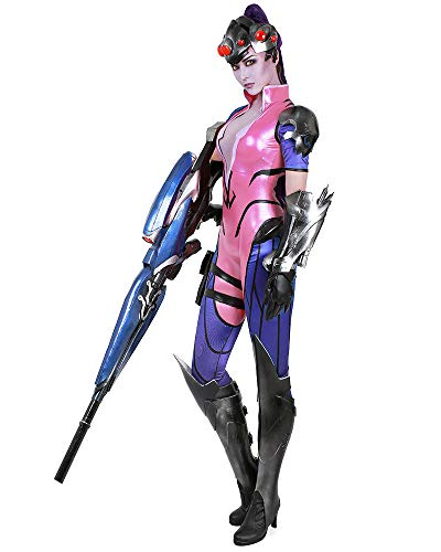 miccostumes Women's Widowmaker Amélie Lacroix Cosplay Costume (WS) Pink and Blue