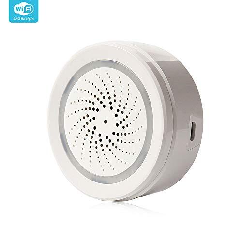 KKmoon thermometer, hygrometer, 2,4 G, voor binnen, temperatuurbewaking, USB, draadloos, 120 dB, sirene beveiligingssysteem voor thuis met alarm, app-melding.