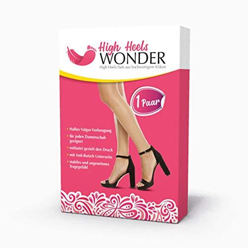 High Heels Wonder – High Heel Gel Pad – Heel Einlagen – Ballenpolster Gel (1 Paar)