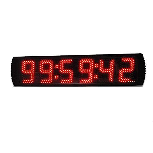 BXU-BG Grande LED Digital Reloj de Pared Multi Funcional Temporizador de Cuenta atrás Cronómetro con Gimnasio Distancia de 5 Pulgadas Despertadores electrónicos (Color: Negro, Tamaño: 69X16X4CM)