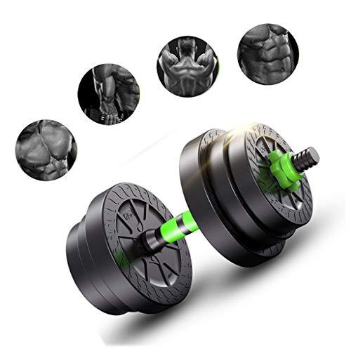 Fxhyy Bilanciere Regolabile Manubri 2 in 1 con Biella Dumbells di Sollevamento Fitness per L'allenamento del Corpo Palestra in Casa Allenamento Sportivo Uomini Donne(Una Coppia)(Size:10kg / 22.04lb)