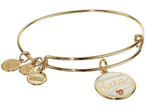 Alex and Ani Color Infusion Healthcare Hero Shiny Gold One Size (A20EBHHCSG)