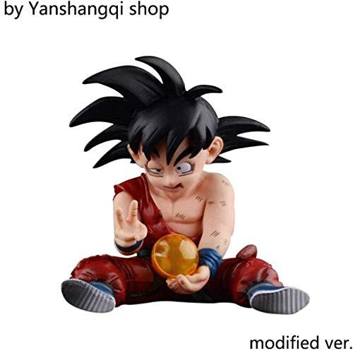 Yanshangqi Dragon Ball: Son Goku sitzende Position PVC Figure - 3,93 Inches