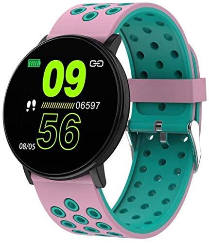 Smart Watches Ip67 - Reloj de fitness impermeable con recordatorios inteligentes y podómetros de monitoreo del sueño, para niños y niñas y niños, exquisito/negro y rosa azul