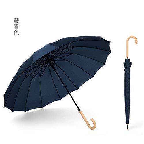 Regenschirm 16 Bonewood Handle Small Fresh Regenschirm Ms. Regenschirm mit langem Griff (nur ein Regenschirm ist im Lieferumfang enthalten), LL, 32.3IN