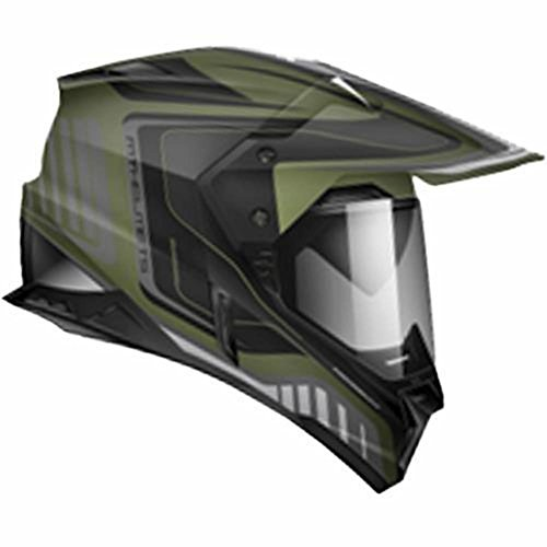 Zoan Synchrony Duo Tourer Camo Green Dual Sport Motorcycle Riding Helmet X-Small