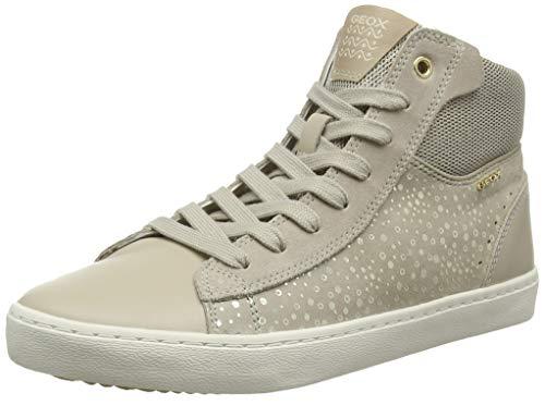Geox Mädchen J Kilwi Girl D Hohe Sneaker, Grau (Beige C5000), 31 EU