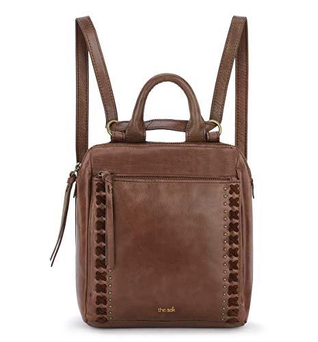 the sak unisex adult Women's Loyola Leather Mini Backpack, Teak, One Size US