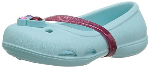 Crocs Mädchen 204028 Closed-Toe Ballerinen, Blau (Ice Blue), 19/20 EU