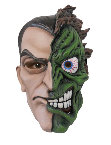 Batman The Dark Knight Rises Two Face Overhead Latex Mask