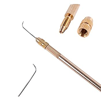 German Needle + Brass Holder for Lace Wig Accessories Weaving Ventilating Needles and Holder