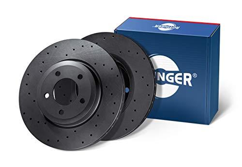 Preisvergleich Produktbild ROTINGER Bremsscheiben,  (Vorderachse,  2-teiliges Set),  High Performance,  Korrosionsschutzbeschichtung,  RT 2937HP-GL / T3