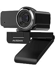 AUSDOM Webcam 1080P met microfoon, AW635 groothoek USB-camera, plug and play, voor pc-monitor laptop, videogesprekken/opname, live streaming