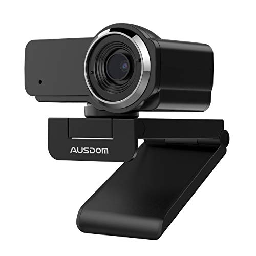 AUSDOM Webcam 1080P Full HD con Micrófono, Enfoque Manual USB Cámara P, Gran Angular para Video Chat/Grabación en Youtube/Skype, Compatible con Windows 7/8/10 / XP/Chrome/Mac OS