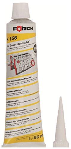 Förch K158 80 ml Tube die Dauerplastische Universaldichtmasse rot auf PU Basis bis 270° für Motoren, Gehäuse