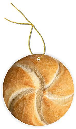 Sam Sandor - Sourdough Bread - Round MasoniteFLAT MDF Ornament with String