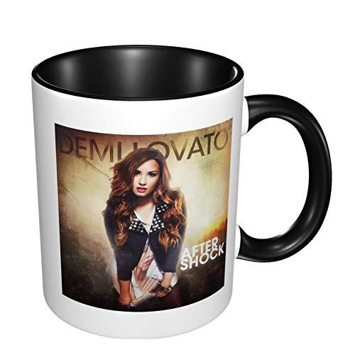 Demi Lovato - Taza de café de cerámica con impresión de moda, taza de té para oficina y hogar, regalo maravilloso