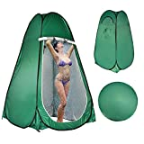 LEVORYEOU Privacy Pop Up Tent, Portable Toilet for Camping,Fishing Tent, Outdoor Shower Enclosure Tent, Privacy Changing Beach Tent, Rain Shelter with Window – Easy Set Up, with Carry Bag (Green)