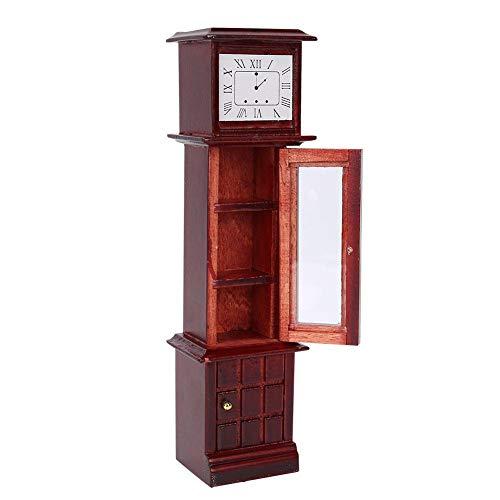MOUMOUTEN 1:12 Reloj de Abuelo de casa de muñecas, Accesorios de fotografía de Reloj Vintage en Miniatura Que Crean una Hermosa Escena de Vida para muñecas