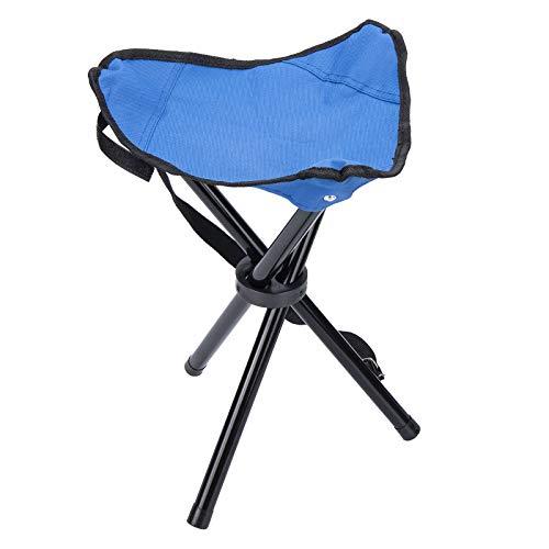 Blkthun Chaise de Tabouret Camping Pliant à Trois Pieds Pliable, Portable Pêche Randonnée Triangle Folding Stool, Tabouret Pliable pour Trépied