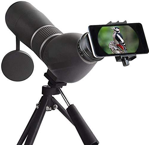 Monoculaire Telescope, 15-45x60 High Power Monoculair Scope Waterdichte Verrekijkers met -telefoonklem en Statief for mobiele telefoon for Bird Watching