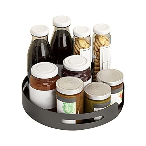 KIMIST Estante giratorio para especias para condimentos, estante giratorio de almacenamiento redondo para armario de cocina para armario, despensa, nevera, baño