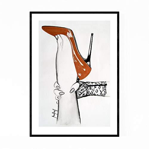 Aquarelldruck Aquarellkunst Aquarelldekor BDSM-Kunst BDSM-Druck BDSM-Plakat Vintage-Kunstdrucke Vintage-Plakat Vintage-Wandkunst
