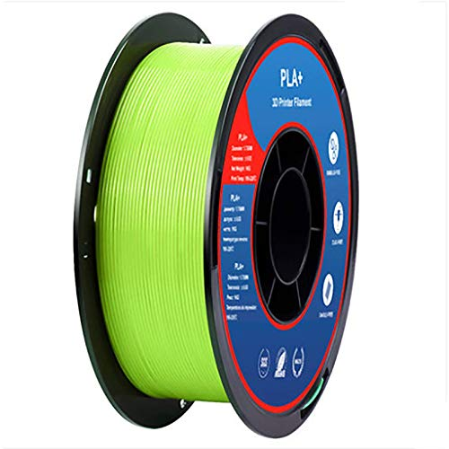3D Printer Filament PLA+ Filament 1.75mm 1KG, With High Strength And Better Toughness, 3D Printing Filament For 3D Printer, Dimensional Accuracy +/- 0.02mm, (bright Green PLA)