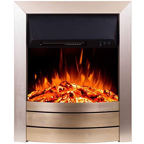 Noble Flame Bedford – Elektrokamin-Einsatz – Moderne LED Technik inkl. Heizfunktion – täuschendechtes Feuerambiente - Mokka