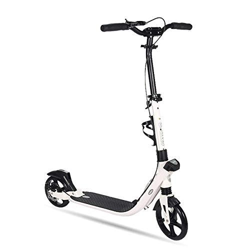 GAOPANG Scooter para Adultos Patinete Plegable Patinete de Ruedas Grandes para Adultos y Adolescentes con Barra en T de Altura Ajustable