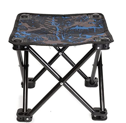 VERDELZ Taburete pequeño Plegable para Acampar, Taburete portátil, Mini Silla portátil para Acampar al Aire Libre, Caminar, Cazar, Caminar, Pescar y Viajar