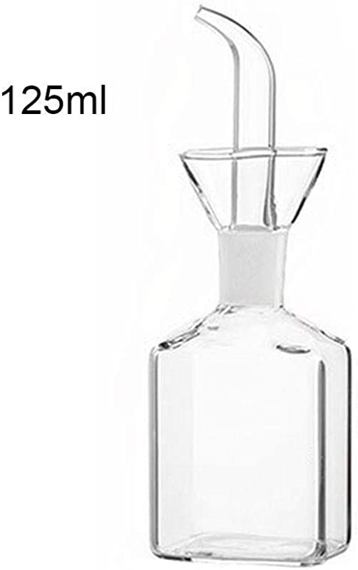 Glass Oil Vinegar Bottle With Drizzler Pourer Glass Pots Condiments Cruet Salad Dressing Bottle For Home Kitchen Storage