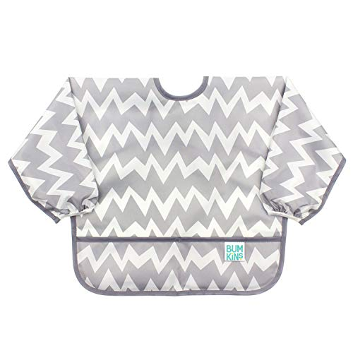 Bumkins Sleeved Bib / Baby Bib / Toddler Bib / Smock, Waterproof, Washable, Stain and Odor...