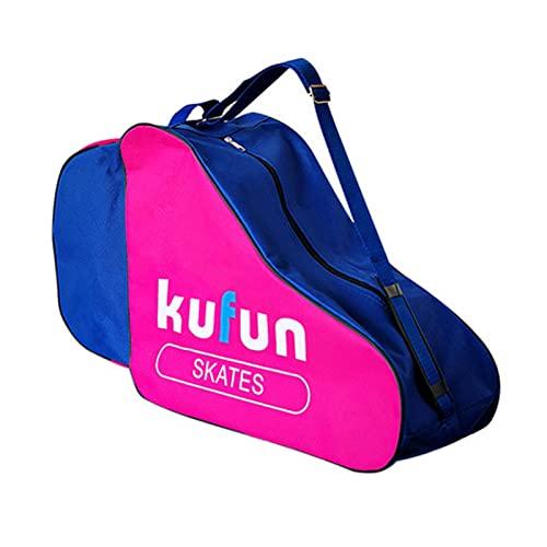 Rubeyul Bolsa para patines de ruedas, bolsa de transporte transpirable para niños, portátil, correa de hombro ajustable, unisex, niños y adultos (triangular)