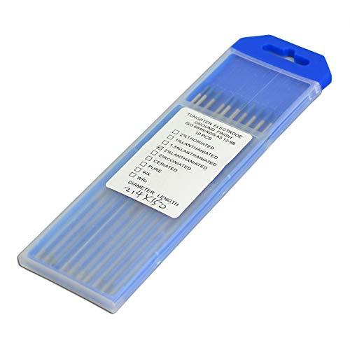 TEN-HIGH /Électrodes en tungst/ène TIG WL20 Bleu 2/% de Lanthane 1,0 mm x 150 mm de 10 pi/èces par paquet