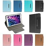 NAUC Medion Lifetab E6912 Tablet Schutzhülle Universal Tablettasche hochwertiges Kunstleder Tasche Hülle Standfunktion Cover Case, Farben:Rot
