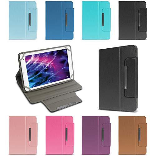 NAUC Medion Lifetab E6912 Tablet Schutzhülle Universal Tablettasche hochwertiges Kunstleder Tasche Hülle Standfunktion Cover Hülle, Farben:Grün
