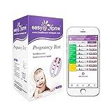 Easy@Home 25 Schwangerschaftstest Streifen Frühtest Schnelltest 10 miu/ml, Fertilitätstest-Kit, 25 HCG Tests