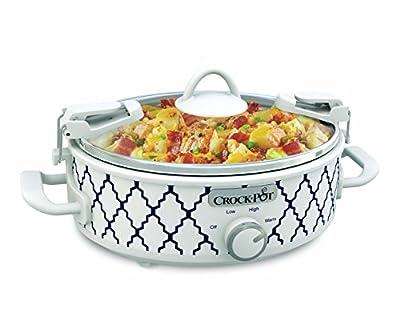 Crockpot 2.5-Quart Mini Casserole Crock Slow Cooker, White/Blue
