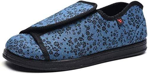 RSVT Outdoorschuhe FüR Senioren Erwachsene,Puffy Füße verbreiterten Schuhe, Valgus Schuhe-Blau_36,Atmungsaktive Schuhe Diabetische