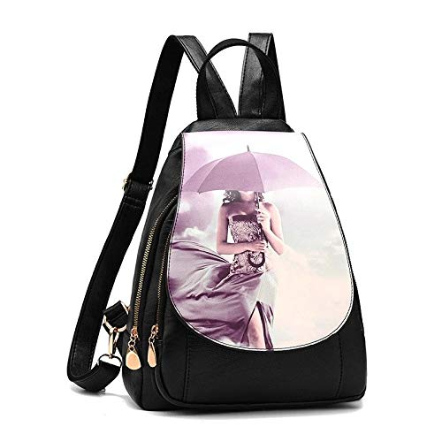 12 Inches A2 Women Backpack Pu Women Bag Leather School Bags For Teenagers Girls Fashion Korean Style Luxury Large Capacity