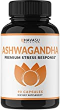 Havasu Nutrition Ashwagandha Capsules with Adaptogens, for Stress Relief, Anxiety Relief, Mood Support, Libido Boost, and Adrenal Fatigue Relief; Non-GMO 1000 mg; 90 Capsules for Men & Women